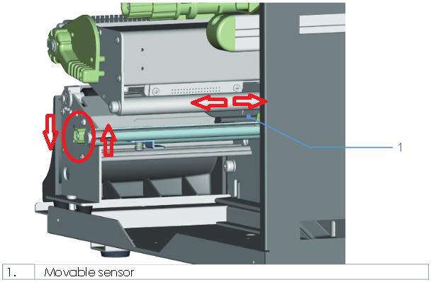 GoDEX EZ 2250i címkeköz érzékelő